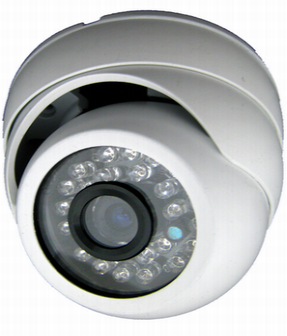Outdoor Eyeball IR Dome, 700TVL, Up to 65FT